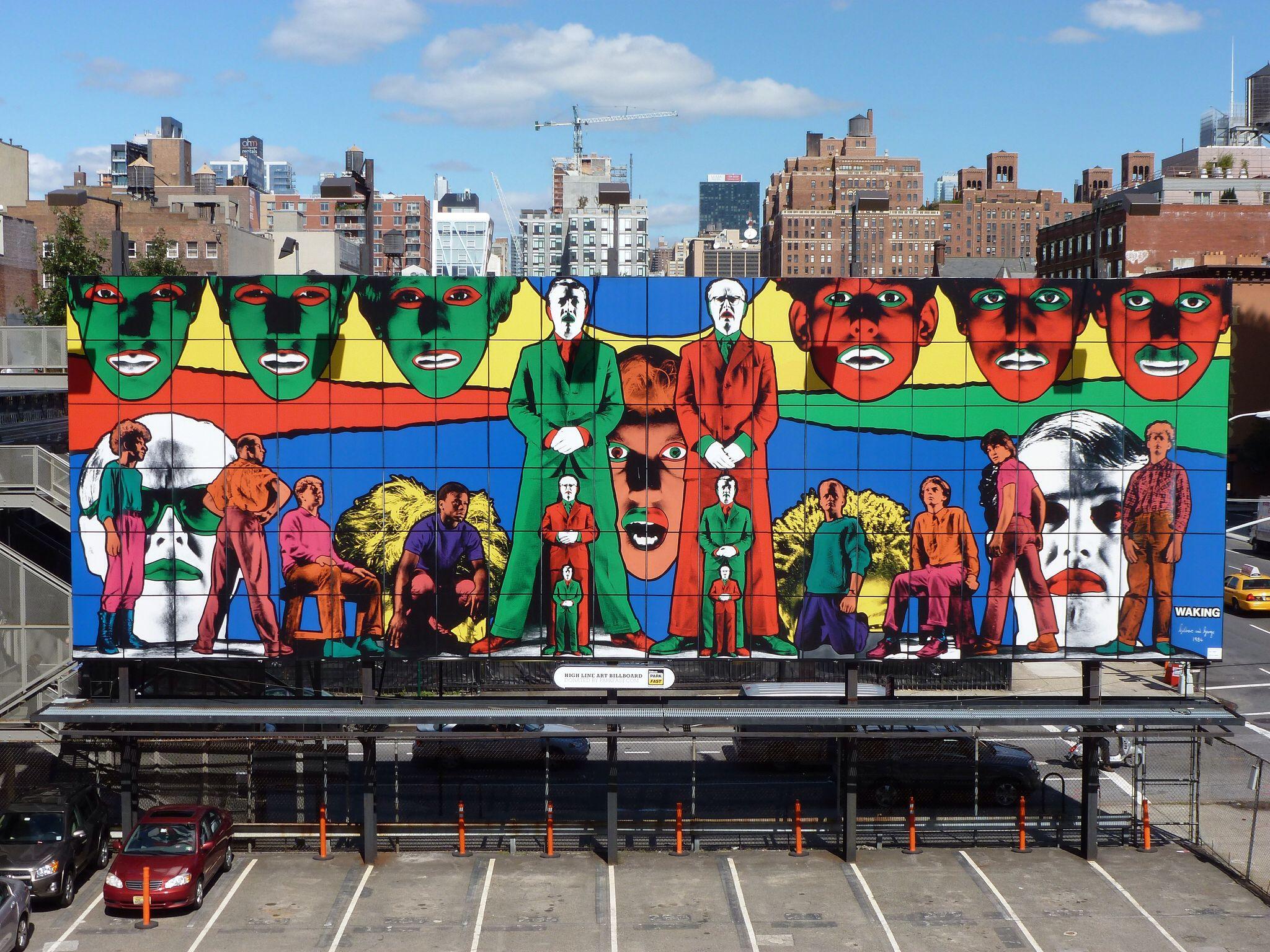 201309233 New York Chelsea High Line Park advertising Art