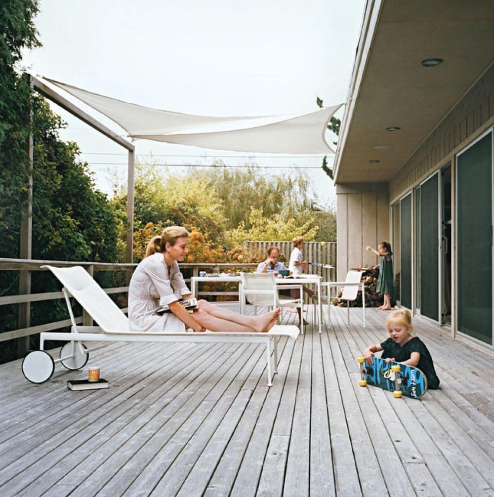 テラス ベランダ 開放感 タープ オーニング Ikea テラス 屋根付き