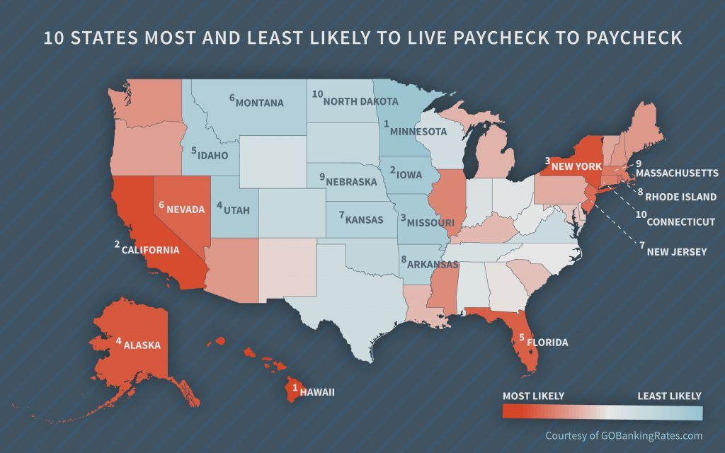 The poorest town in each state Median household income, Household - best of world map with alaska and hawaii