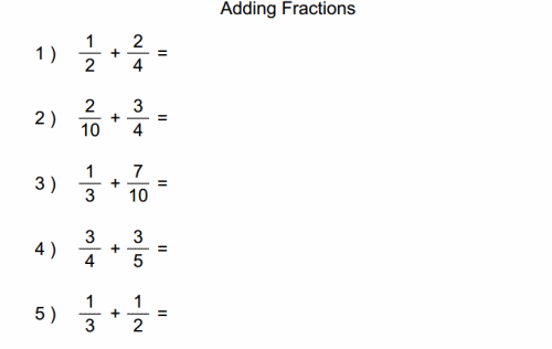 Students Will Add Both Fraction To Find The Solution Math Worksheets Fractions Worksheets Math Fractions Worksheets