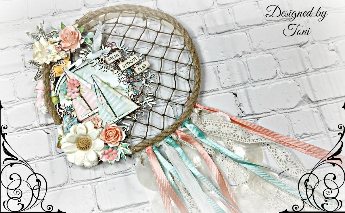 Altered Embroidery Hoop Dream Catcher *Reneabouquets