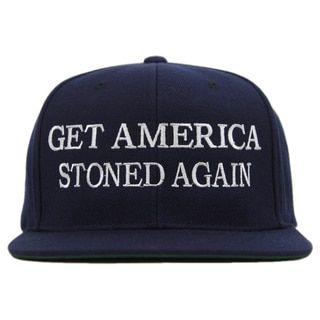 57f4643fd50f53 Tommy Chong Choice 'Get America Stoned Again' Snapback Baseball Hat ...