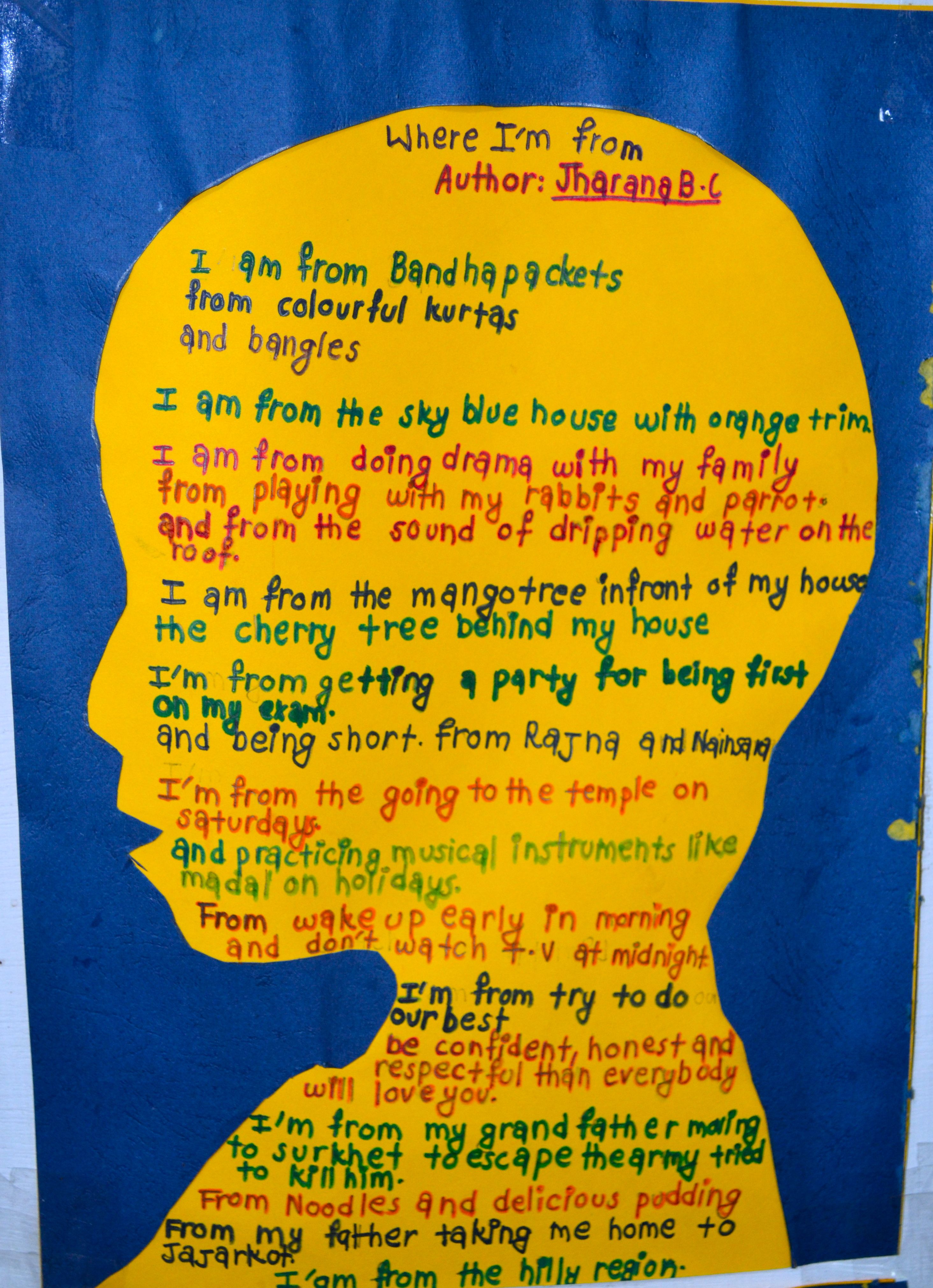 Image result for i am from poem examples for kids Teach