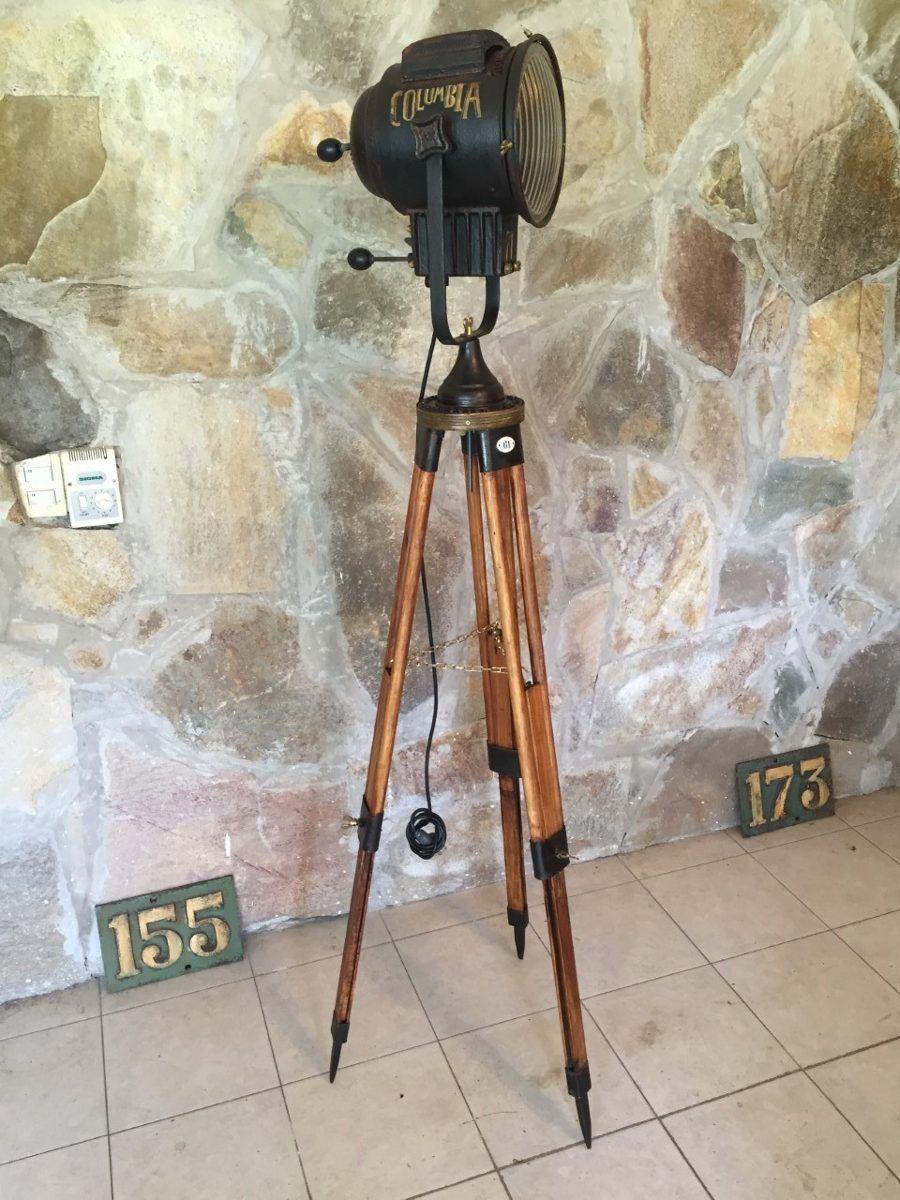 Lampara industrial de pie tripode reflector cine - Iluminacion de pie ...
