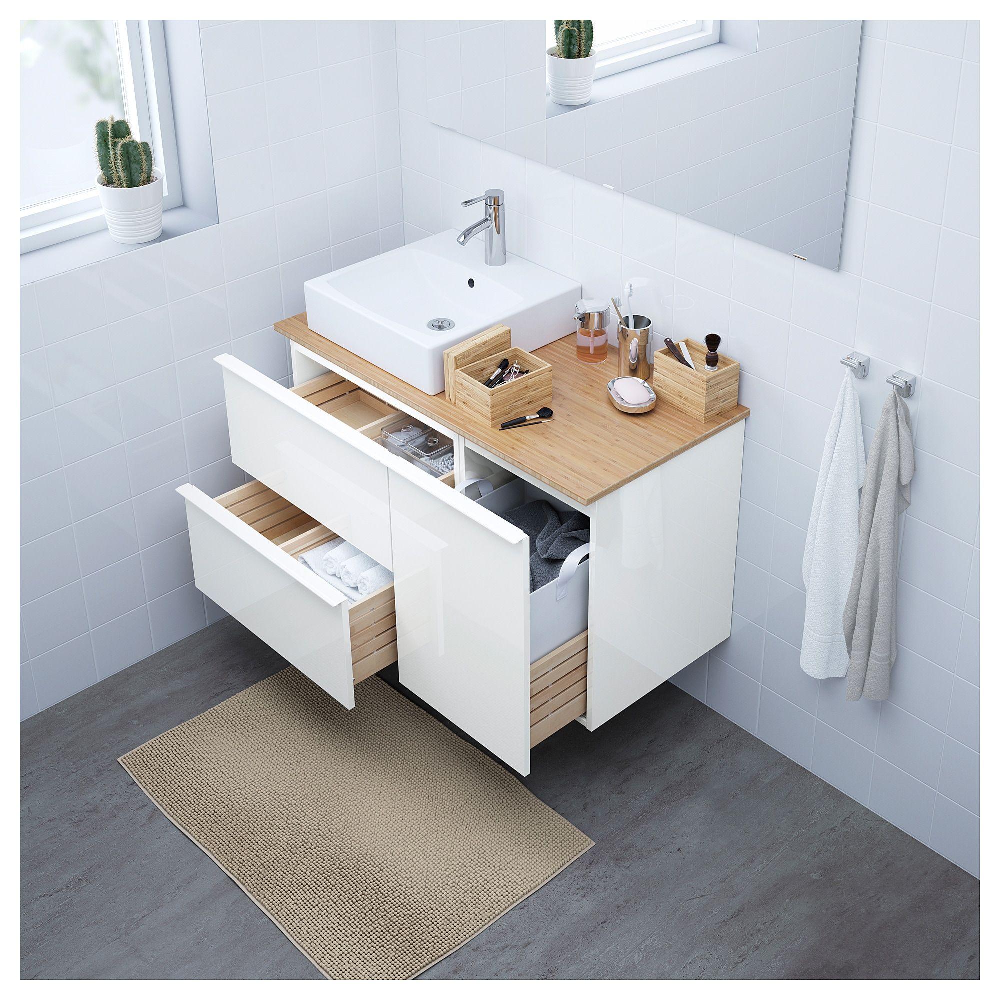Godmorgon Tolken Tornviken Waschbschr Waschb 45x45 Hochglanz Weiss Mit Bildern Ikea Godmorgon Waschbeckenschrank Ikea