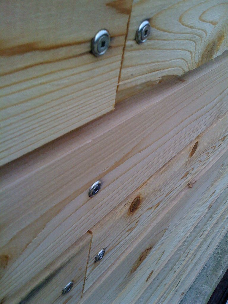 Close Up Of The Fence Fasteners Wood Fence Fence Design Cedar Fence