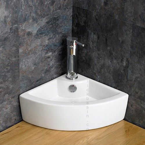 Very small bathroom sinks small corner sink ideas for a small bathroom pinterest for Very small sinks for small bathroom