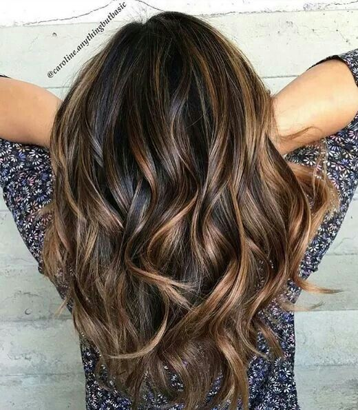 Chocolate Caramel Balayage Hair Hair