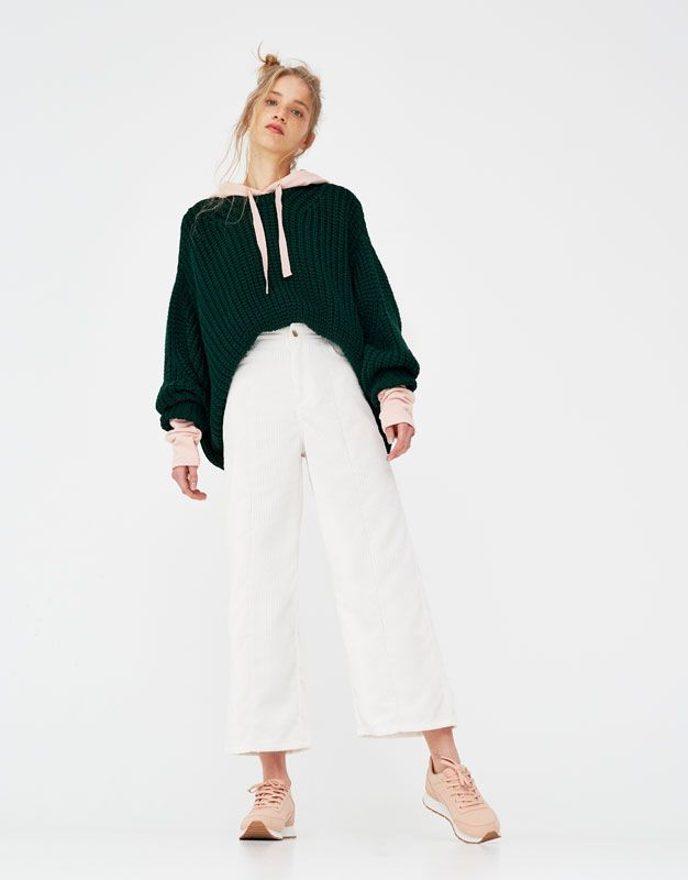 Jupe Culotte En Velours Côtelé Pantalons Vêtements