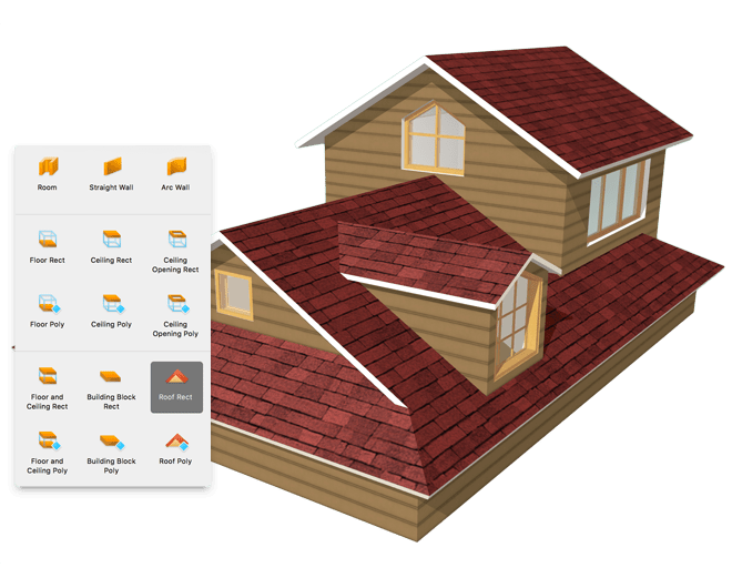 You Can Add Multiple Roofs Of Any Size And Shape To Your Home Design Project Home Design Software Interior Design Software House Design