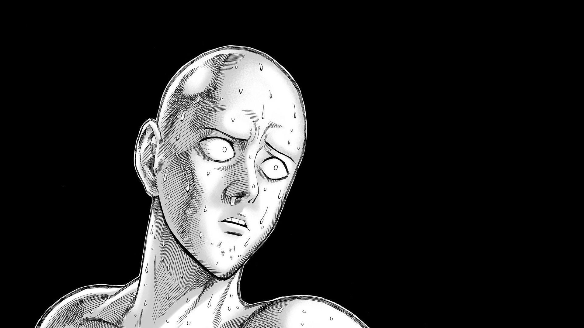 Saitama Stupid Face One Punch Man HD Wallpaper
