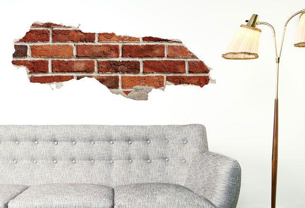 brick wall | bricks, vinyl wall art and wall sticker