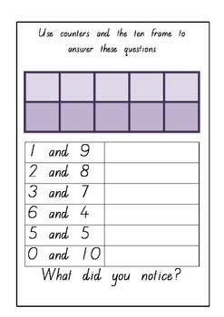 Making 10 Rainbow Facts Free Printable Worksheets Flashcards Kindergarten Worksheets Printable Worksheets Flashcards