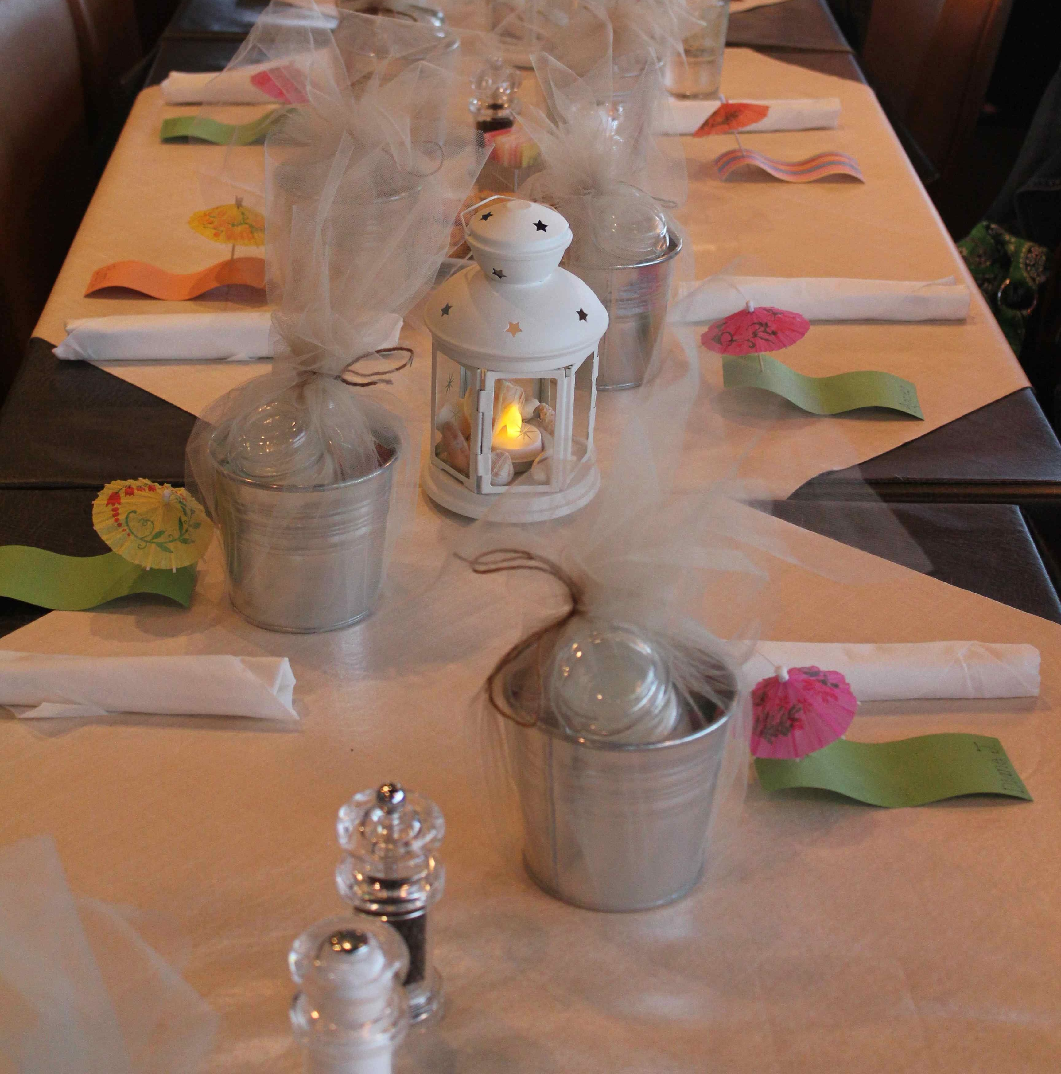 Bridal shower table decorations Bridal shower table