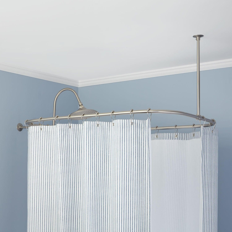 Rectangular Solid Brass Shower Curtain Rod In 2019 Shower