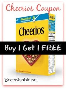 image relating to Cheerios Coupons Printable called Cheerios Coupon: Get A person Attain A person Totally free Free of charge Printable