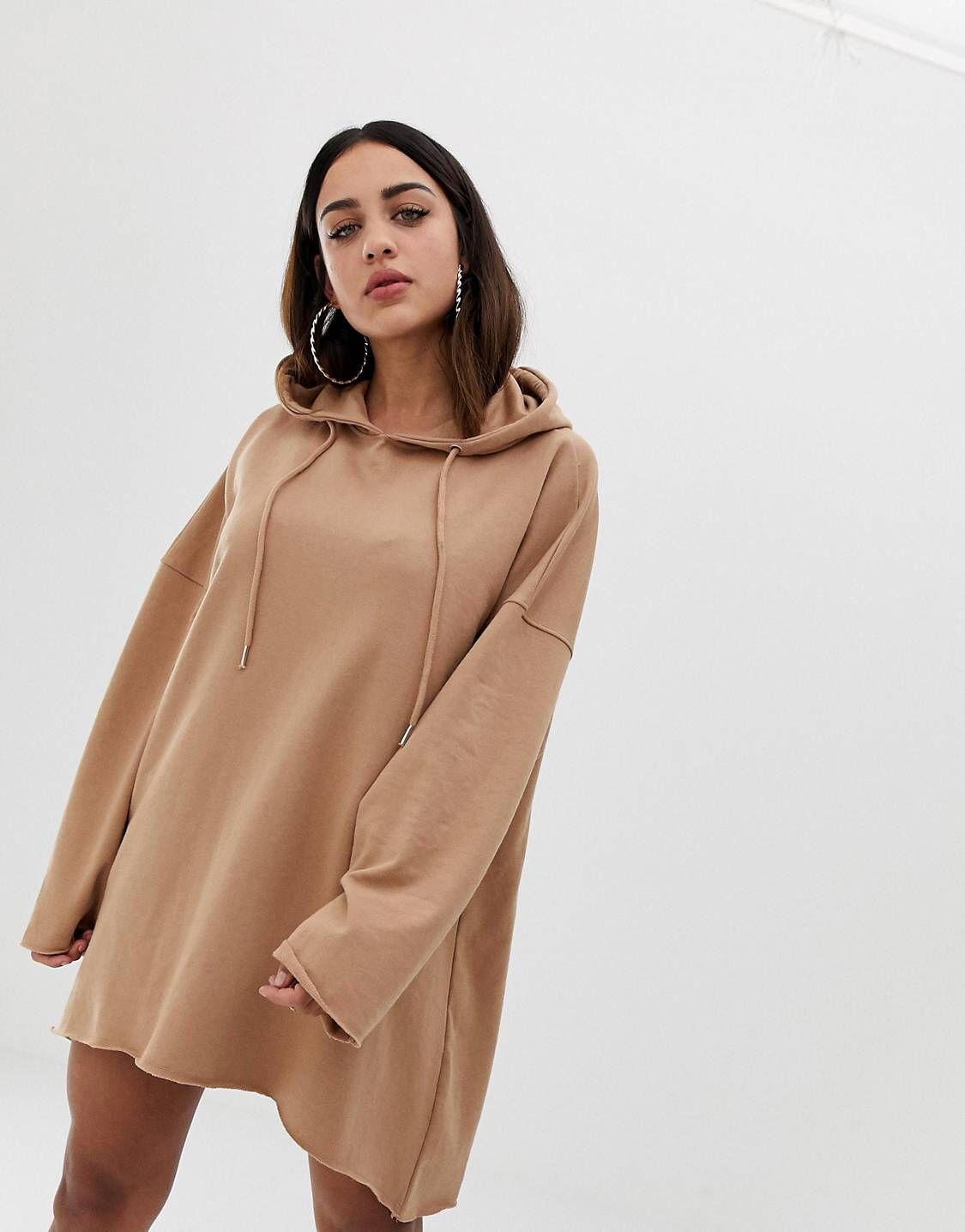 5eb84ca817d Бежевое платье-свитер мини с капюшоном Missguided в 2019 г.