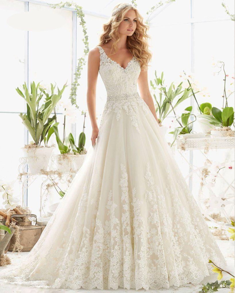 Crystal Elegant Long A Line Wedding Dress at Bling Brides Bouquet ...