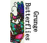 Peyote Bracelet Pattern Grunge Butterflies