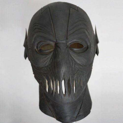 The Flash Season 2 Zoom Mask Black Full Head Adult Latex Mask Cosplay Halloween