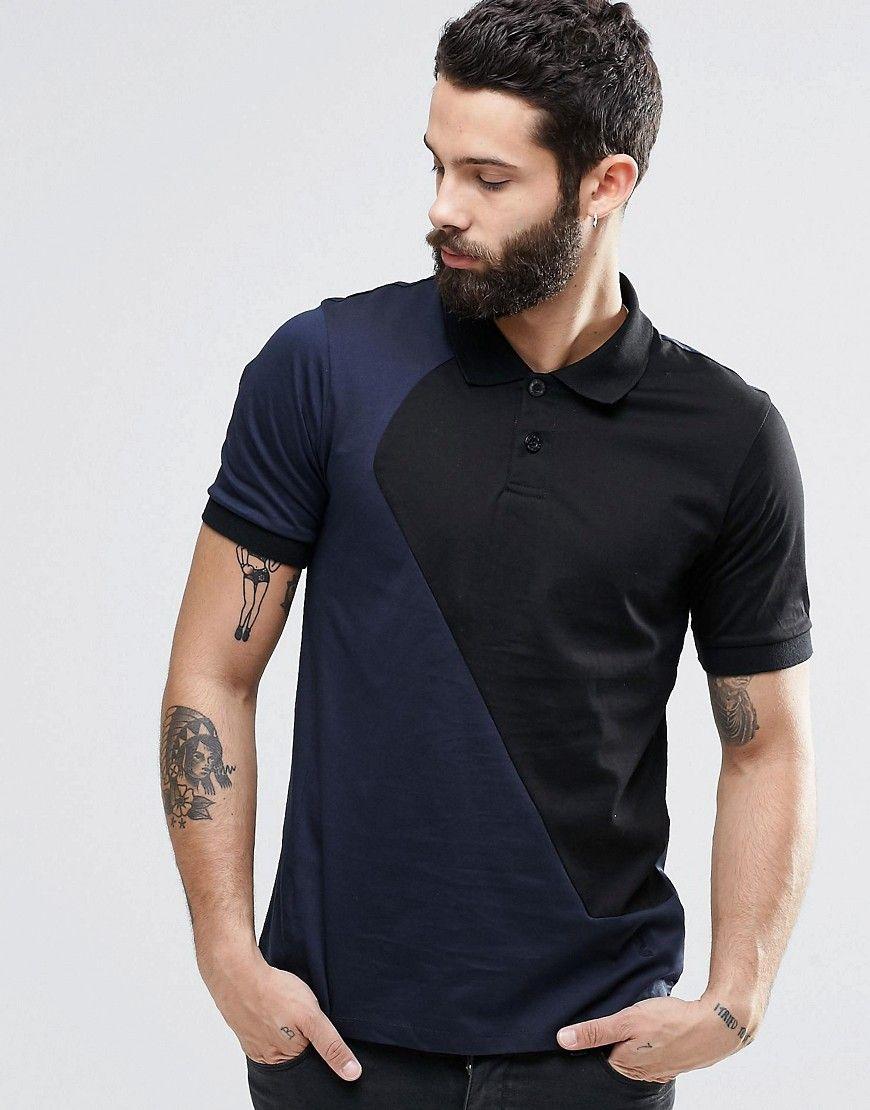 Religion Cut & Sew Polo Shirt at asos.com