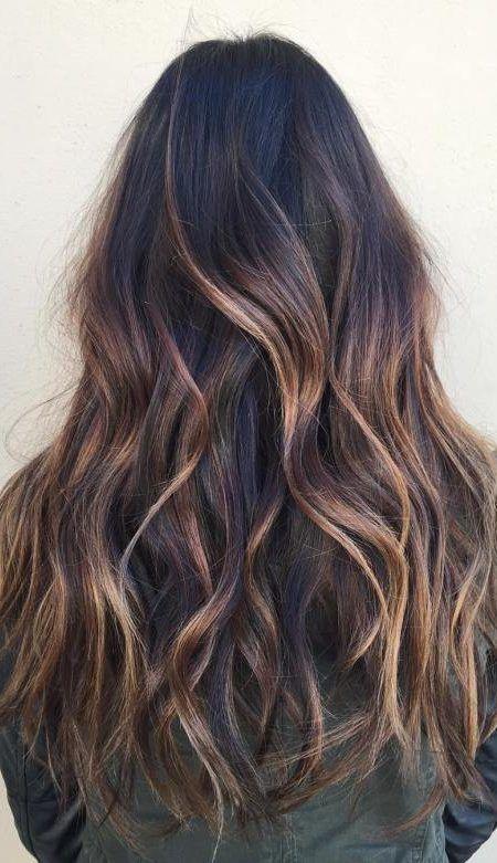 Caramel Balayage Highlights On Dark Brown Hair Hair In 2018