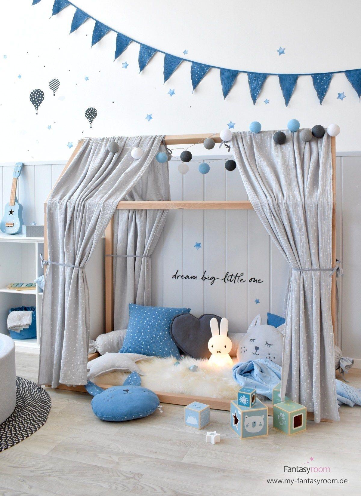 Spielzimmer in Blau, Grau & Schwarz bei Fantasyroom online kaufen #salledejeuxenfant