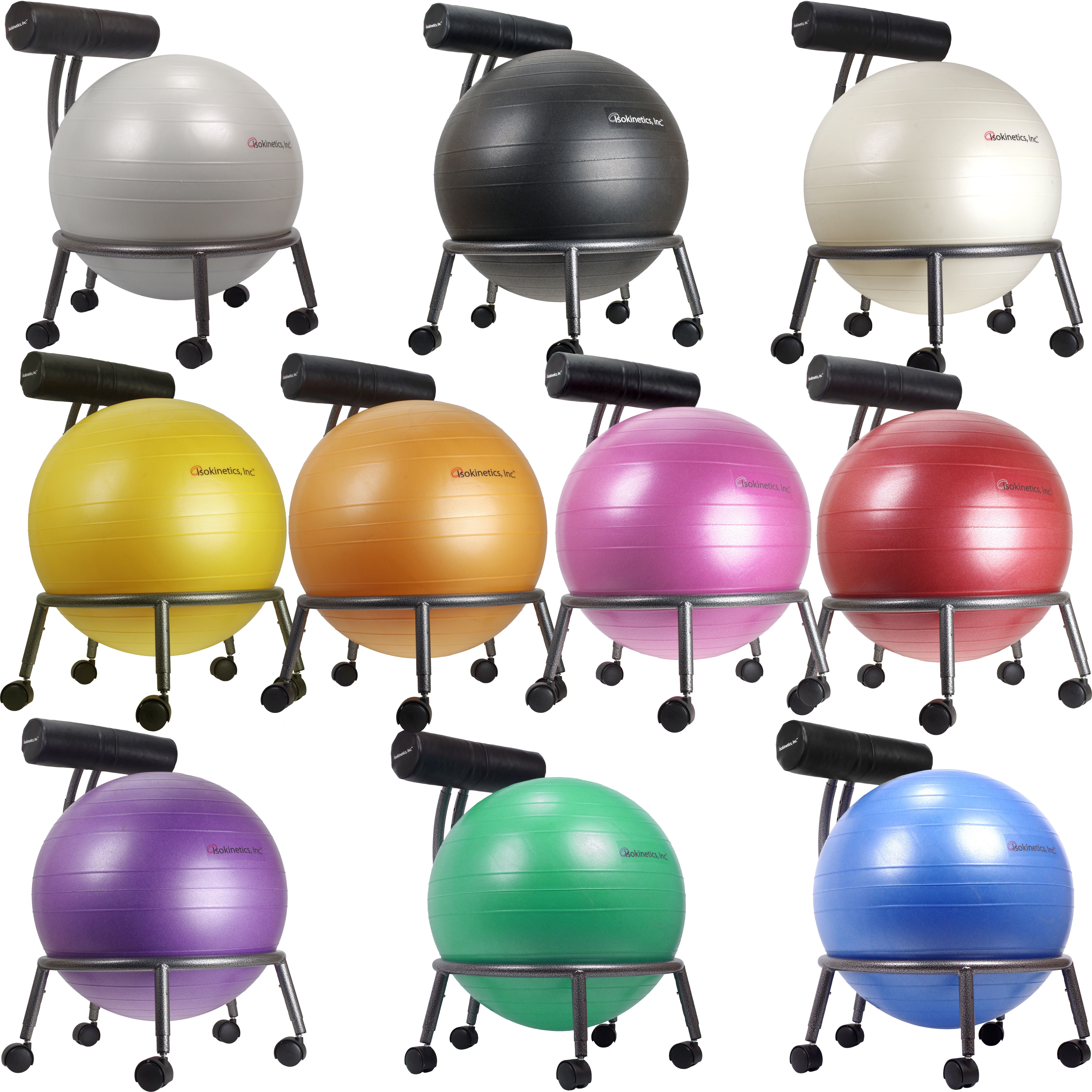 Fitness Ball Chair Silver Flake Frame