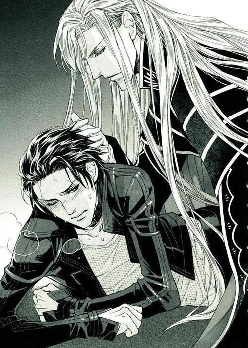 """Iason and Riki <3 Ai no Kusabi. Prolly one of my top """"couples""""   Dat hair. Srsly, dat hair."""