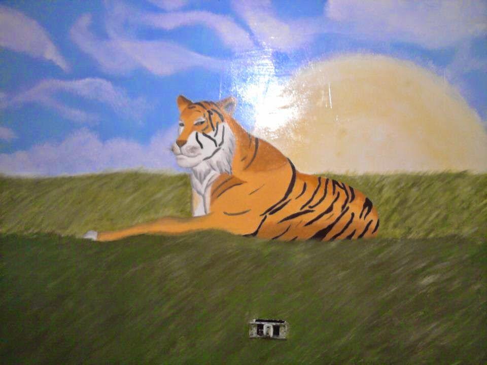 الرسام محمود صا بر: رسم على الحائط والجدران