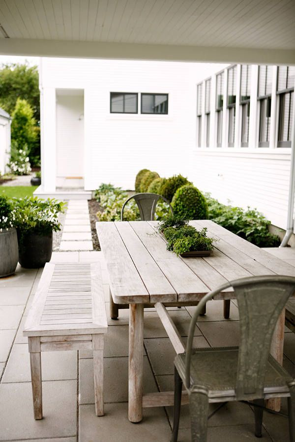 Image Result For White Farmhouse Table And Benches Outdoor