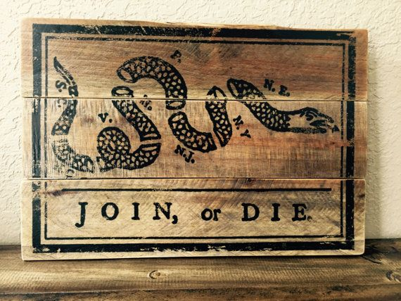 Join Or Die Wood Pallet Sign Military Wood Sign Patriotic Wood