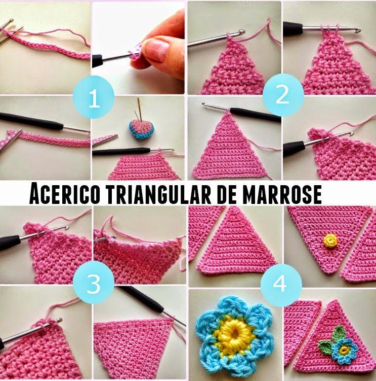 Acerico-alfiletero triangular en crochet tutorial - Patrones Crochet ...