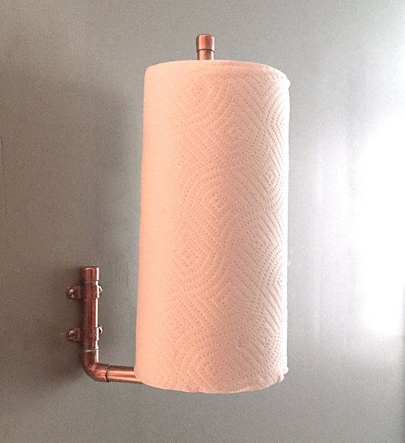 High Quality Pipe Paper Towel Holder, Industrial Kitchen Design, Copper Towel Holder  Vertical Wall Mounted, Steampunk Design, Kitchen Storage Paper Towel |  Industrial ...