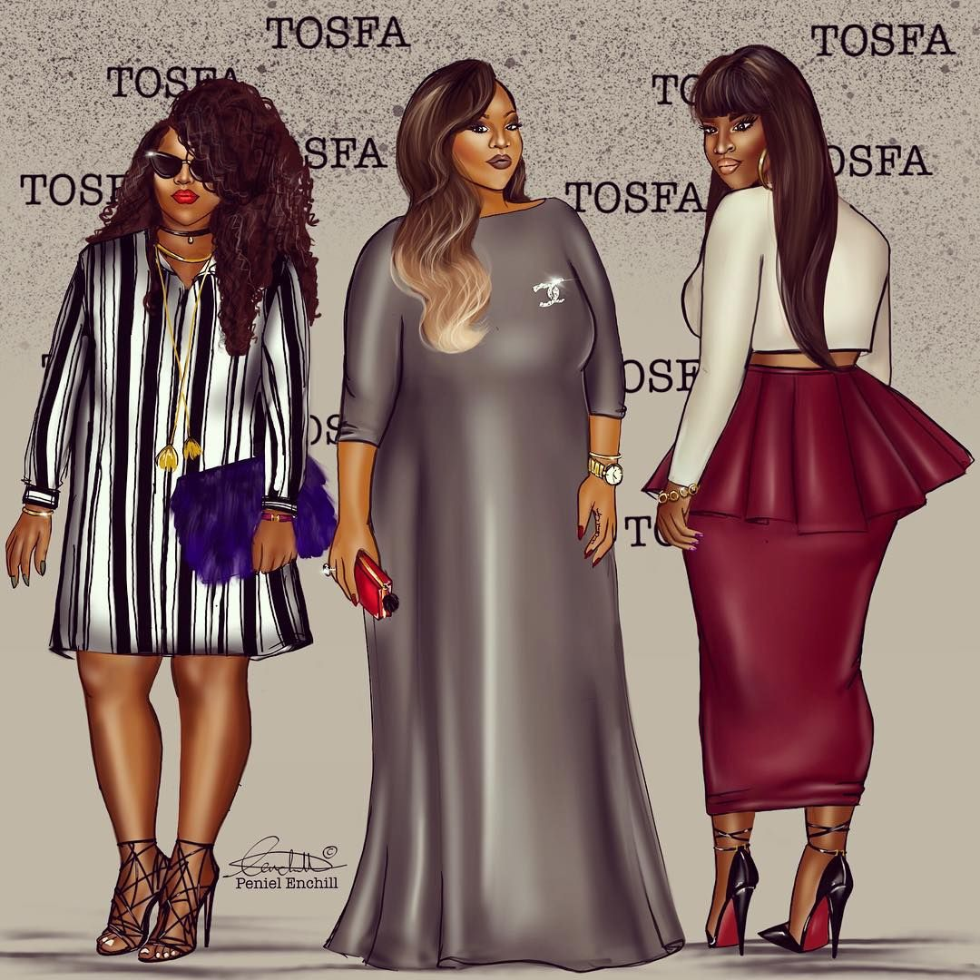 « Commision for @tobs_ogundipe!! Babe of life. Best plus size line in Nigeria! #tosfa »
