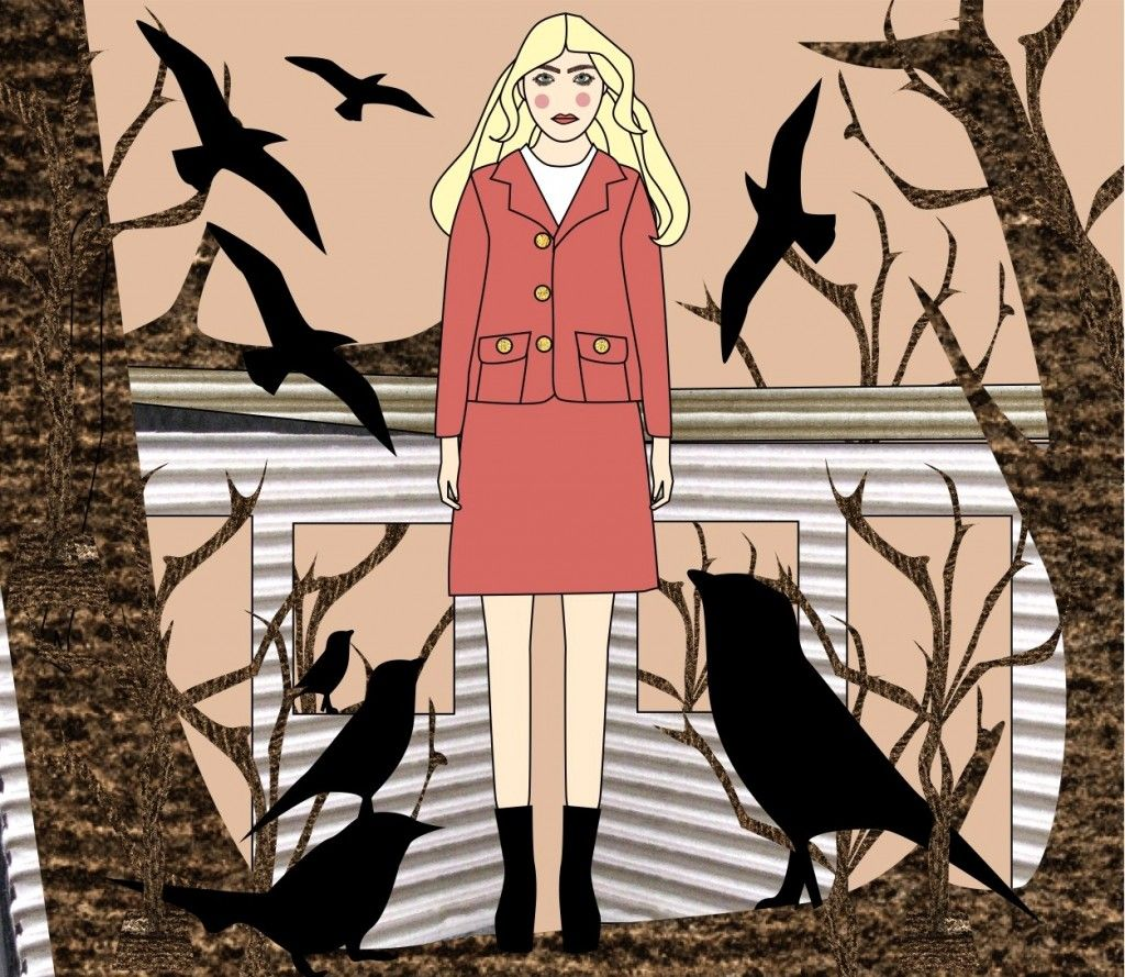 Love this AW11 Orla Kiely illustration by Avril Kelly #pink #thebirds #illustration