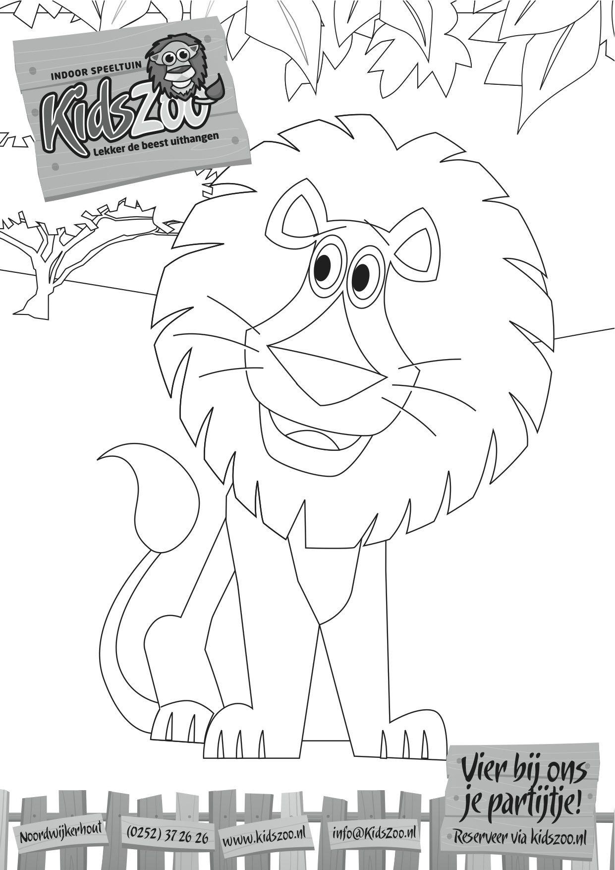 Leo De Leeuw Kleurplaten Kleuren Dieren