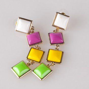Alloy earrings acrylic Bohemian