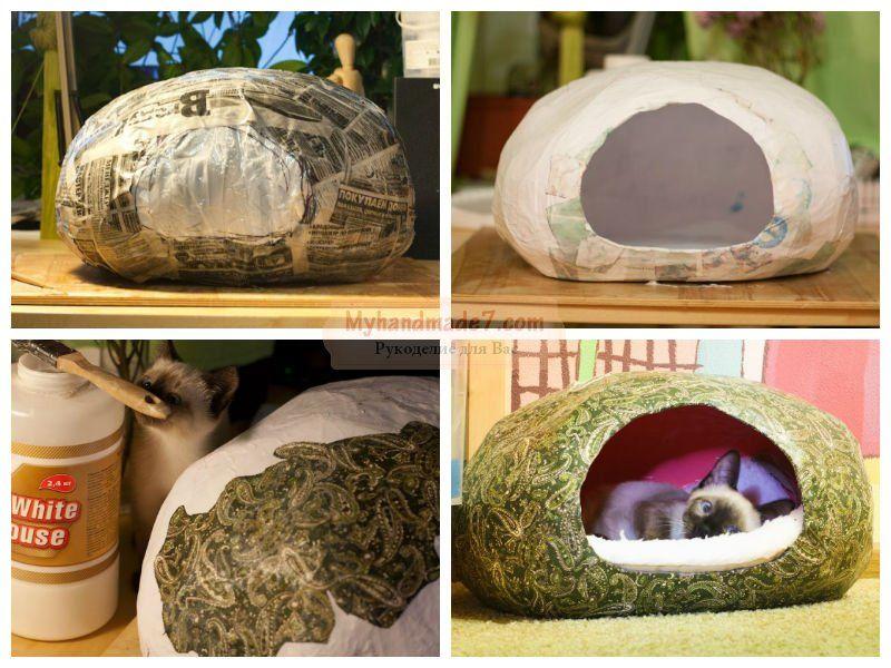 Домик для кошки мастер класс