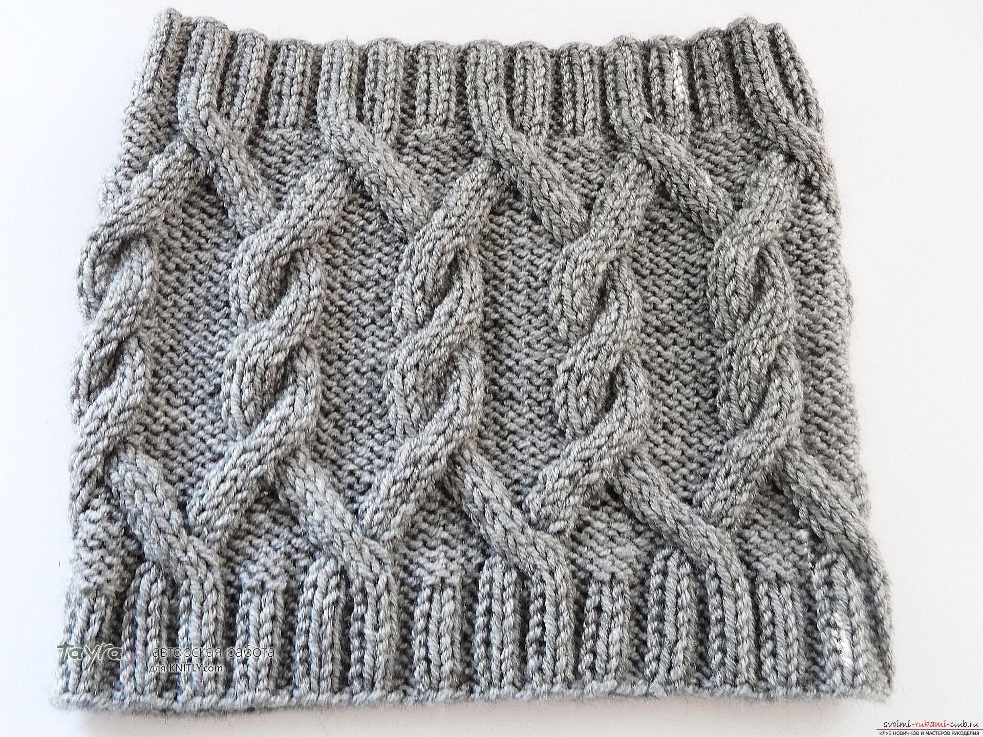 вязаный спицами шарф-снуд. Фото №2 | knit1 - bufandas ...