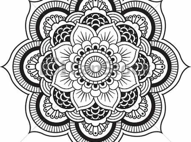 Henna Flower Design Vectors Henna Flower Mandala Vector Designs