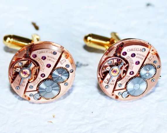 Hey, I found this really awesome Etsy listing at https://www.etsy.com/listing/97975522/omega-steampunk-cufflinks-rare-rose-gold