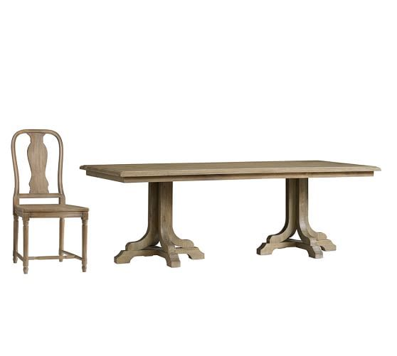 Linden Fixed Table Amp Mabry Chair 9 Piece Dining Set