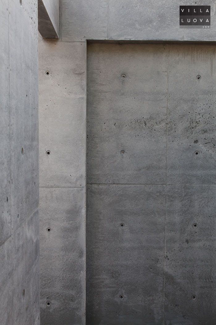 Concrete wall angles villa luova our house pinterest How to finish a concrete wall