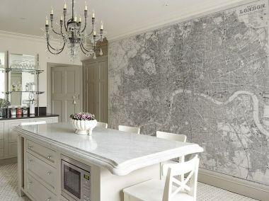 Dise os de papel pintado para la cocina actual arquit - Papel para paredes de cocina ...
