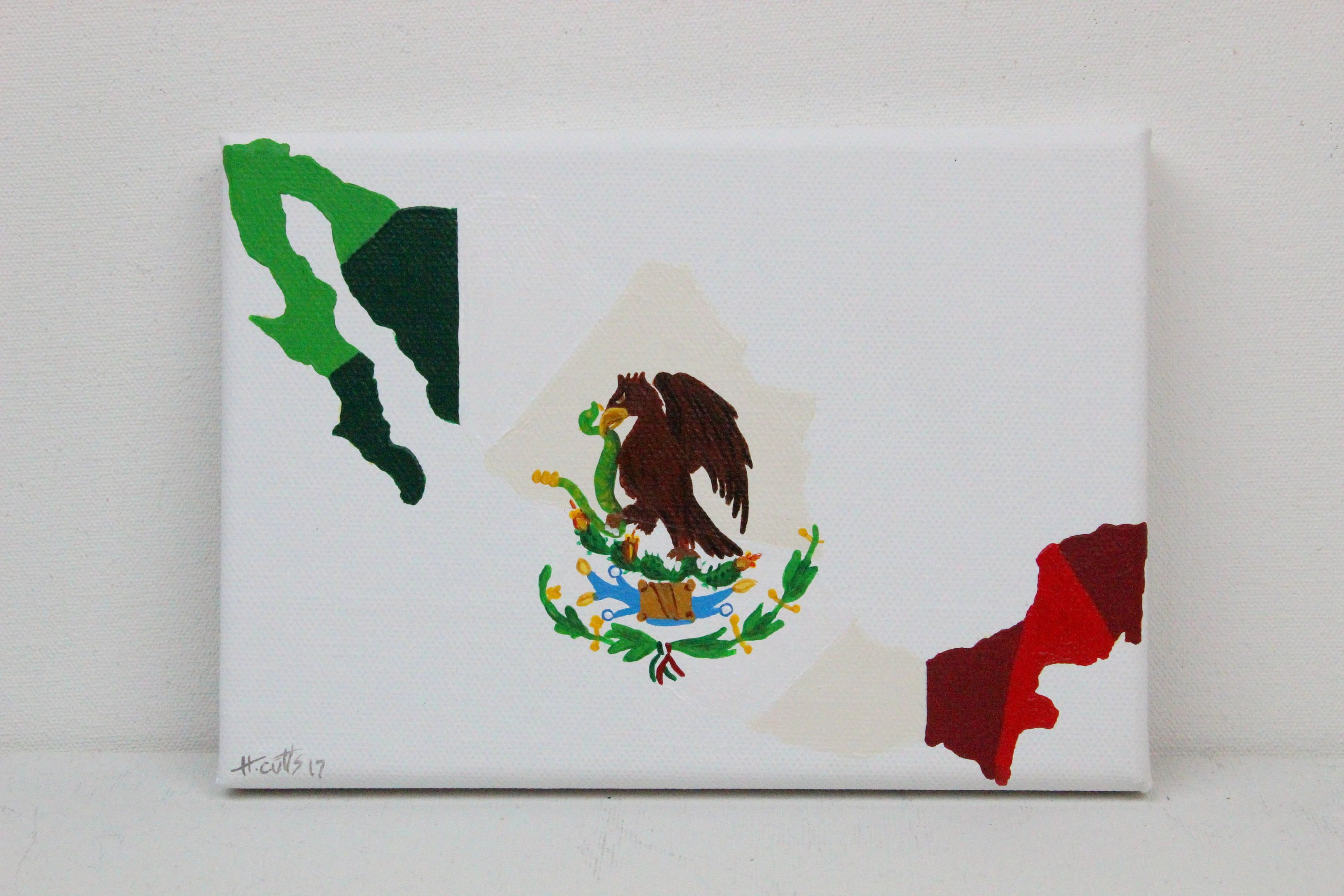 Mexico Painting Mexico Mexican Art Mexican Flag