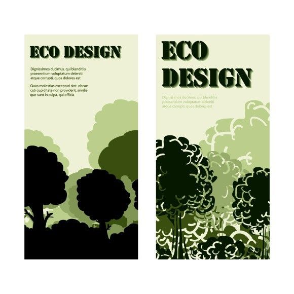 Eco design banners with forest. Poster Templates. $4.00