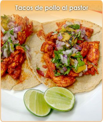 Ingredientes Para Preparar Tacos De Pollo Al Pastor Tacos De Pollo Recetas Mexicanas Receta De Tacos