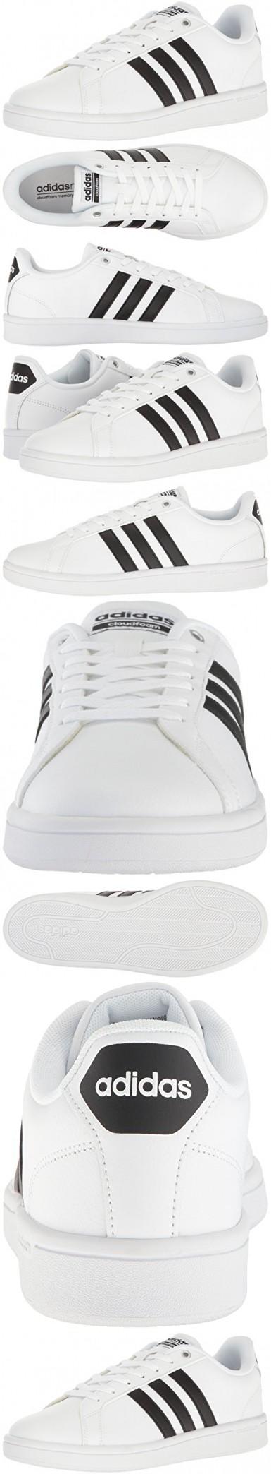 adidas neo uomini cloudfoam vantaggio della scarpa, bianco / nero