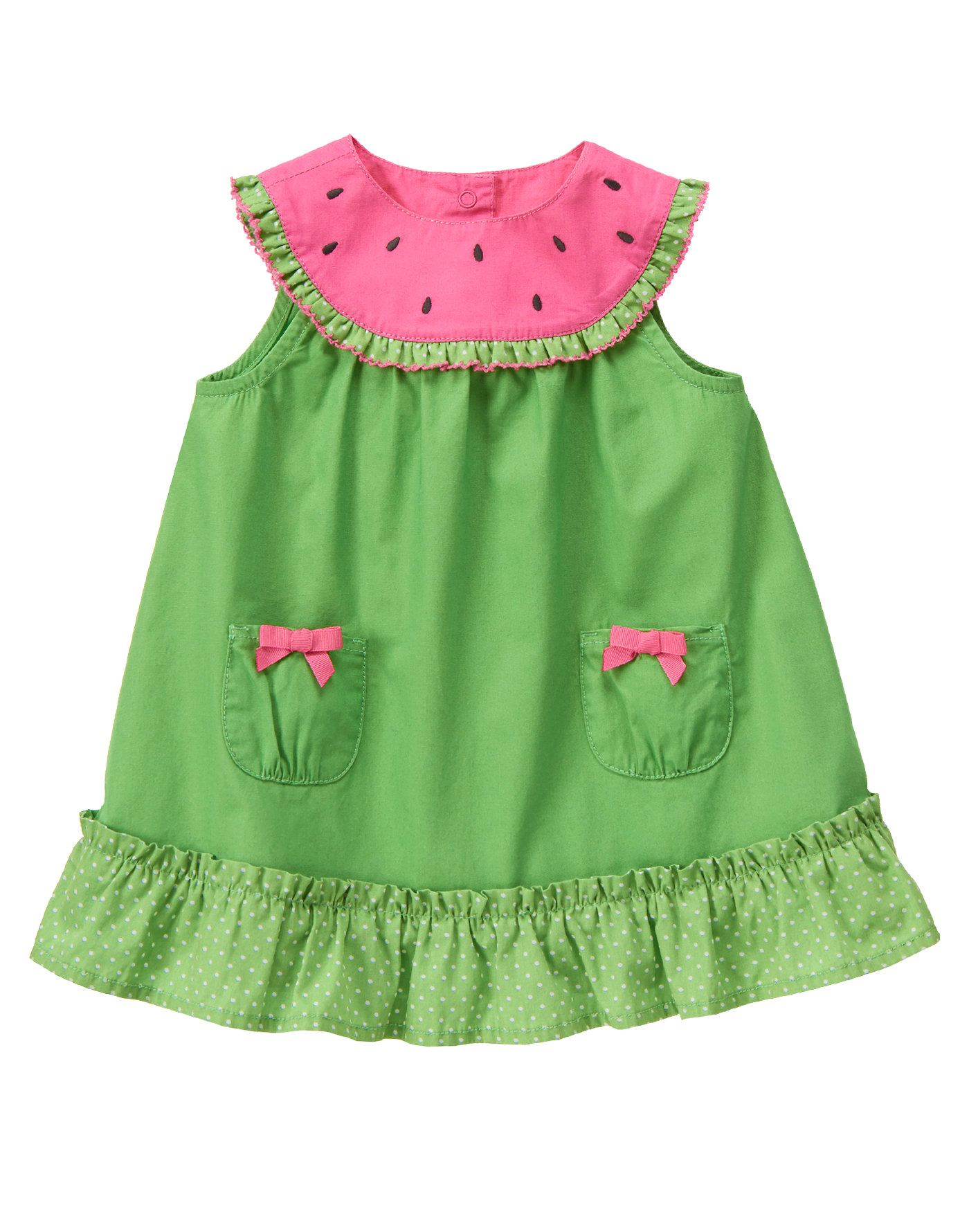 Watermelon Dot Ruffle Dress Baby Amaryllis